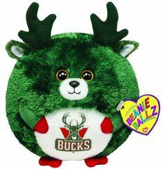 Ty Beanie Ballz Milwaukee Bucks - NBA Ballz - http://bignbastore.com/nba-accessories/nba-toys/ty-beanie-ballz-milwaukee-bucks-nba-ballz