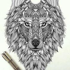 wolf doodle - Buscar con Google