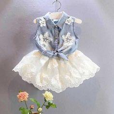 babymmclothes oblečenie set Nové dievčatá džínsové vesta + biele šifónové sukne dievčenské šaty-in Súpravy oblečenie z matky a deti na Aliexpress.com   Alibaba Group