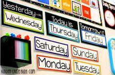 Great colorful classroom calendar