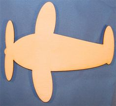 airplane cut out  | CMAirplane Unpainted Airplane Wood Cutout / Package of 10