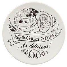 Be Our Guest Dessert Plate - White | Disney Store Put a happy ending on every dining experience with this delightful dessert plate featuring the lyrics to <i>Be Our Guest</i> from Disney's <i>Beauty and the Beast</i>. Try the grey stuff - it's delicious!
