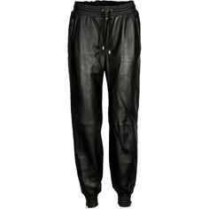VIPARO Black Stampaid Pants (380 AUD) ❤ liked on Polyvore featuring pants, black, elastic waist pants, draw string pants, relaxed fit pants, ankle zip pants and stretch waist pants