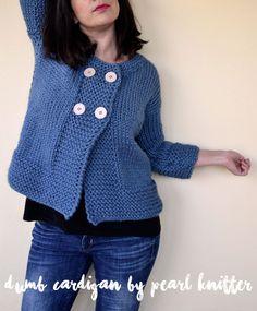 Teje tu Dumb Cardigan by Pearl Knitter | Pearl Knitter