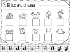 Freebie on my blog! Hop on over and check it out! Letter Sound Activities, 1st Grade Activities, Kindergarten Literacy, Preschool Learning, First Grade Words, Blends And Digraphs, Organized Teacher, Consonant Blends, Reading Street