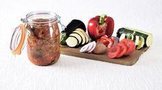 Ratatouille en conserve Ratatouille Recipe, Canning Recipes, Whole 30 Recipes, Healthy Salads, Charcuterie, Chutney, Meal Prep, Veggies, Stuffed Peppers