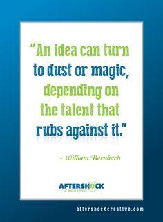 An idea can....