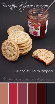 Biscottoni grano saraceno e confettura di lamponi