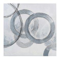 maison du monde toile blanchegrise 80 x 80 cm circles 4999