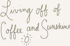 We LOVE coffee and sunny South African winters