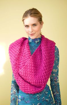 Crochet Patterns Using Scarfie Yarn : Cabildo Cowl by Lion Brand - made this in a very dark purple shade ...