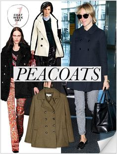 awesome Coat Week: Peacoat - Celebrity Style and Fashion from WhoWhatWear... Celebrity Style Check more at http://pinfashion.top/pin/62316/