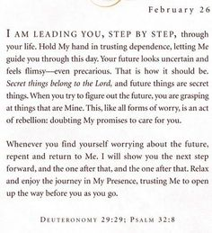 Jesus Calling devotional: February 26