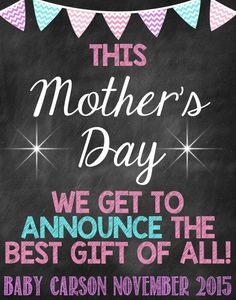 Mother's Day Pregnancy Announcement Mother's by ChalkingItUpBoards