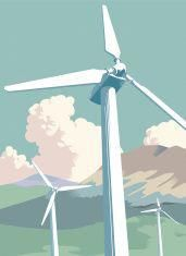 Wind Farm in the countryside vector art illustration Free Vector Graphics, Free Vector Images, Vector Art, Texture Drawing, Farm Projects, Wind Power, Global Warming, Photo Illustration, Game Art