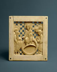 Plaque with Christ Receiving Magdeburg Cathedral from Emperor Otto I Date: ca. 962–968 Geography: Made in Milan (?) Culture: Ottonian Medium: Ivory Dimensions: Overall: 5 1/8 x 4 7/16 x 5/16in. (13 x 11.3 x 0.8cm) Classification: Ivories
