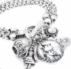 Alice in Wonderland Jewelry, Alice Bracelet, Fairytale Jewelry, Queen Alice, Alice in Wonderland Charms - Blackberry Designs Jewelry