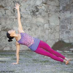A powerful arm and wrist strengthener, Side Plank takes its two-armed sibling to the next level, as an arm balance.