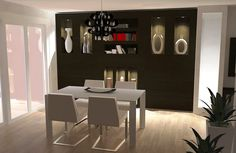 Beautiful Neutral Dining Room Decorating - Real House Design