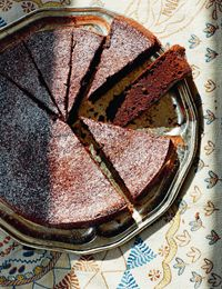 Chocolate chip amaretto torte recipe from Top With Cinnamon by Izy Hossack | Cooked