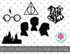 Harry Potter Silhouette Cut File Set .png .dxf by RKHeatPress