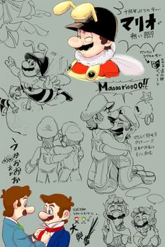 mario bros by unknown on pixiv