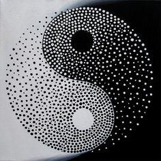 Yin Yang Original Modern Painting on Canvas by MatriXArtbyDV