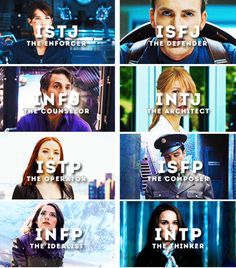Avengers personality types, Part 2 Petter is most definitely not an INTJ Personalidad Enfp, Mbti Charts, Myers Briggs Personalities, Personality Types, Marvel Movies, Marvel Cinematic Universe, Marvel Avengers, A Team, Captain America