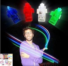 48pack for 12 hands Finger Laser Beam Lights for Party Favors or Rave Party Supplies AND 12 Silly Bands Silicone Bracelets in Fun Words Shapes  12 Each Red White Blue and Green Finger Lights >>> Be sure to check out this awesome product.