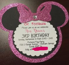 Minnie Mouse Invitations by 5LittleMooneys on Etsy