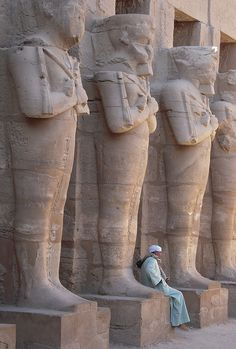 The guardians of Karnak Temple in Luxor, Egypt (by Gibna Kebira).
