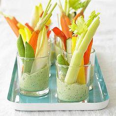 Diabetes snack - Green Goddess Dip with Crudites - diabetes truths and control Green Goddess dip is perfect for raw veggies like cukes, celery, carrots, and more. This one is packed with fresh herbs like tarragon and parsley. Diabetic Snacks, Healthy Snacks For Diabetics, Diabetic Recipes, Snack Recipes, Dessert Recipes, Easy Recipes, Diabetic Breakfast, Potluck Recipes, Easy Snacks