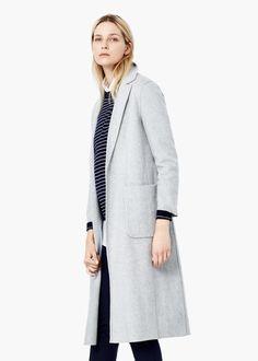Wool straight-cut coat - Coats for Women | MANGO