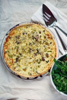 Savor Spring! Mushroom and Leek Quiche Recipe.  Will be using the mushroom in my fridge tomorrow!!