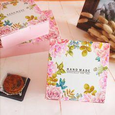 Rosa rosa decoración cuadrada caja de galletas de la galleta cajas de embalaje…