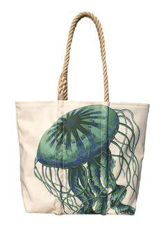 Green Jellyfish Tote #seabags #madeinmaine