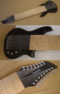 A very large 15 string bass guitar (don't have site, but i think off of sevenstringguitar.com)