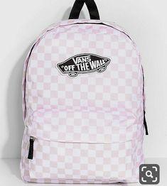 Vans Realm Backpack Pink Check White Black OTW Checkerboard Book Bag - Ideas of Bookbags Vans School Bags, Cute School Bags, Vans Bags, Cute Backpacks For School, Cute Mini Backpacks, Trendy Backpacks, Pink Backpacks, College Backpacks, Backpack For Teens