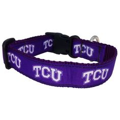 TCU Horned Frogs fan and dog lover? Show your support with a TCU Dog Collar. #TCU #DogLover