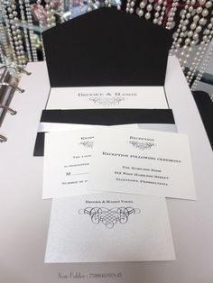 Wedding Invitation Books. Visit us at our shop in Westing Reading PA and see what you are getting!