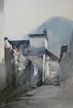 watercolor, Liu Yi