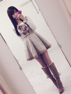 otokonoko-japanese-traps:  A long time Favorite of us: Japanese crossdresser Asa Mikan (あさ蜜柑) has a great sense of fashion and looks always stunning in her dresses. Just look at those flawless legs … Oh, judging from all the 'likes' she already got for her previous posts some of you seem to like her as well …