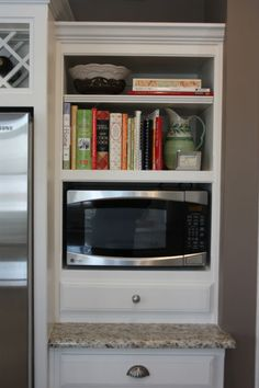 kitchen remodel - microwave built-in - before and after pics