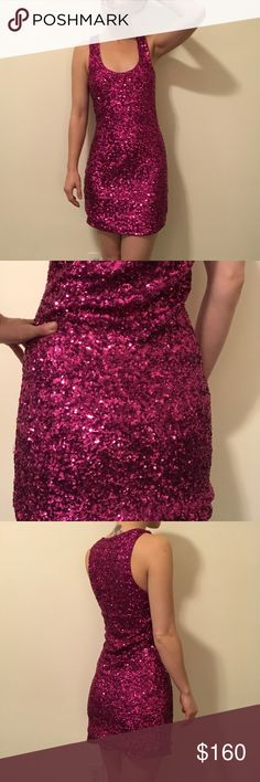 Alice + Olivia Pink Sequined Mini PARTY Dress Alice + Olivia amazingly stunning pink sequined dress. Sleeveless and is mini length with a lined inside. Vintage label and is in great condition! Size extra small!! Makes for a great holiday dress or even a valentines dress :) Alice + Olivia Dresses