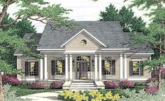 House Plan 40015 | Cape Cod Colonial Country Plan with 1955 Sq. Ft., 3 Bedrooms, 3 Bathrooms, 2 Car Garage at family home plans