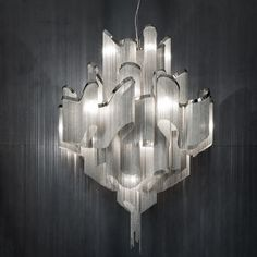 Grid 5 Light Chandelier