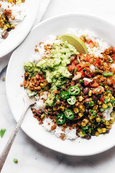 Vegetarian Taco Meat made with cauliflower, walnuts, and chipotles. It's so easy: just mix and bake. Meatless, gluten free, vegan! | pinchofyum.com