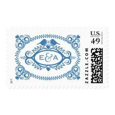 Love Birds Postage Stamp