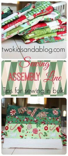 Sewing Assembly Line - www.sewwhatalicia...
