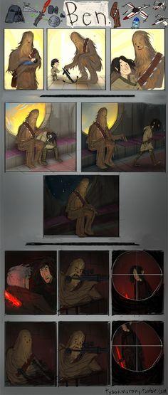Chewie and Kylo Ren comic SR Pick: Star Wars 7 Fan Comic   Chewbacca & Kylo Ren (Right in the feels!)